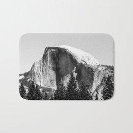 Half Dome, Yosemite, Black and White Bath Mat