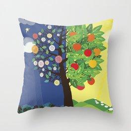 """Seasons"" Spring-Summer Throw Pillow"