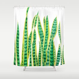 snake plant Shower Curtain