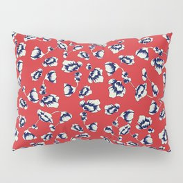 Accent on Red small Floral Print Pillow Sham
