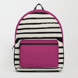 Raspberry x Stripes Backpack