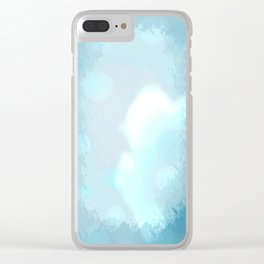 in the sight of blue Clear iPhone Case