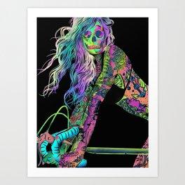 Girl On Bike Art Print