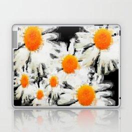 high contrast daisies pastel drawing Laptop & iPad Skin
