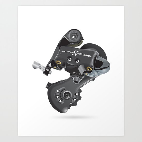 Campy Super Record Rear Derailleur Art Print