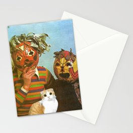 Ppl R Weird handcut collage Stationery Cards