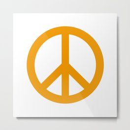 Peace (Orange & White) Metal Print