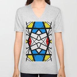 Shattered - geometric graphic design Unisex V-Neck