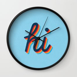 Hi - blue version Wall Clock