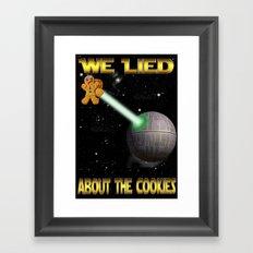 Death Cookies Framed Art Print