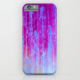 Magenta Cyan jellyfish Patt iPhone Case