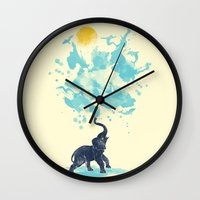 splash Wall Clocks featuring summer splash by Steven Toang