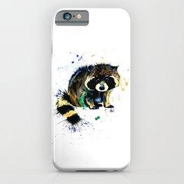 Raccoon - Splat iPhone Case