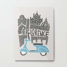 Florence Cityscape Metal Print