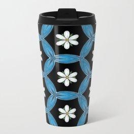 hippie flower pattern Metal Travel Mug