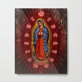 Virgin de Guadalupe Metal Print