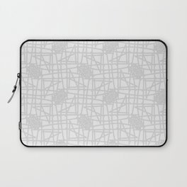 Grey & white neutral squiggle pattern Laptop Sleeve