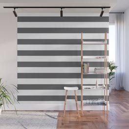 Gray and white lines Wall Mural