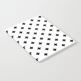 Swiss cross pattern in black Notebook