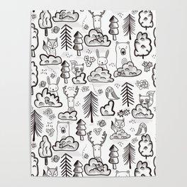 Woodland Animals Large Poster