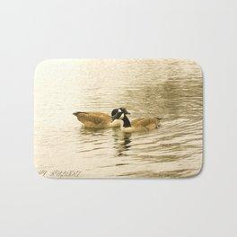Sepia Geese Bath Mat