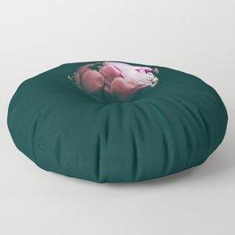 Raspberry Peony Floor Pillow