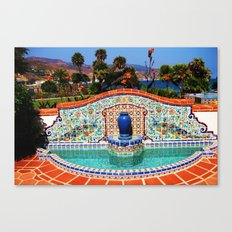 Malibu Fountain Canvas Print