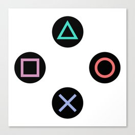 Play with Playstation Controller Buttons Canvas Print