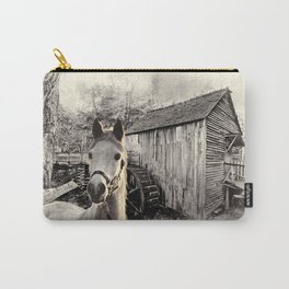 Horse At The Old Mill Carry-All Pouch