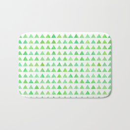 evergreen geometric pattern Bath Mat
