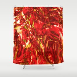 Fluid Painting (Red Version) Shower Curtain
