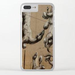 mural weasels Łódź Clear iPhone Case