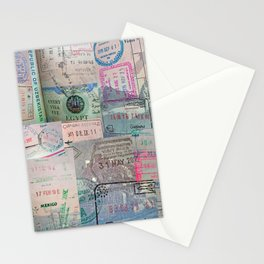 A Celebration of Passport Stamps Stationery Cards