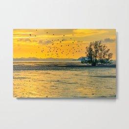 Dawn over the mudflats Metal Print