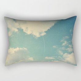 That Cloud Looks Like a Big White Balloon on a String Rectangular Pillow