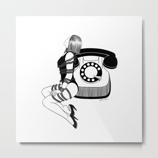 Waiting for your call Metal Print