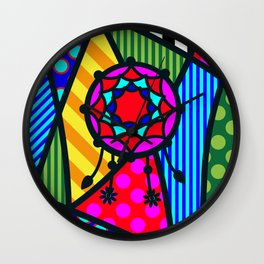 Lucky Dreamcatcher SQuare Wall Clock
