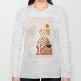 Minimal Abstract Shapes No.75 Long Sleeve T-shirt