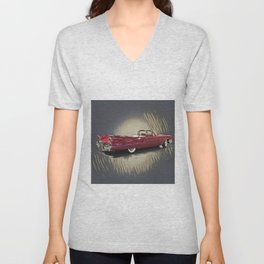 Classic 1959 Red Cadillac Convertible Unisex V-Neck