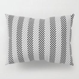 Black White & Grey Herringbone Fish Pattern Pillow Sham