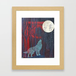 Wolf Moon Framed Art Print