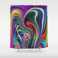 oriental Shower Curtains featuring Oriental Vapours by David  Gough