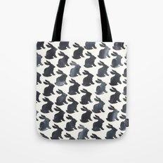 Rabbit Chalkboard Pattern by Robayre Tote Bag