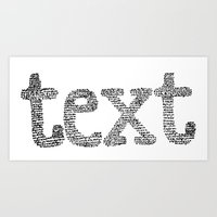 text Art Prints featuring text by JULIA