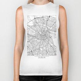 Dublin Map White Biker Tank