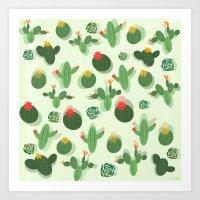 succulent Art Prints featuring Succulent by Kakel