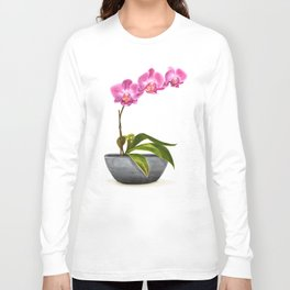 Watercolor Orchid Long Sleeve T-shirt