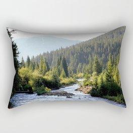 Camping on Mineral Creek, at 9,500 feet Rectangular Pillow