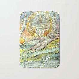 Vintage William Blake painting Bath Mat