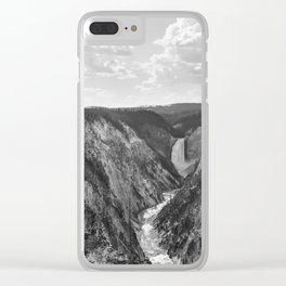 Lower Falls Yellowstone Clear iPhone Case